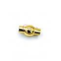 Fecho Aço Inox Redondo Bolinha - Dourado (5mm)