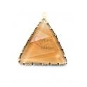 Pendente Latão AQ Triangulo Cristal Dourado - Dourado (35x30mm)
