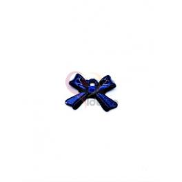 Pendente Latão Laço - Azul (10x14mm)