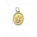 Pendente Latão Nossa Senhora Brilhantes - Dourado (19x16mm)
