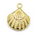 Pendente Aço Inox Concha 3D - Dourado (25mm)