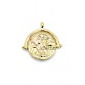 Pendente Latão Medalha Imperio Romano Aro Cavaleiro - Dourado (20mm)