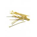 Pack Alfinetes Aço Cabeça Redonda [30mm] - Dourado (aprox. 14unds)