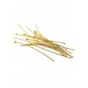 Pack Alfinetes Aço Cabeça Redonda [45mm] - Dourado (aprox. 14unds)
