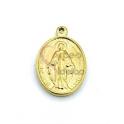 Pendente Aço Inox Mini Nossa Senhora - Dourado (16x13mm)