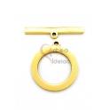 Fecho Aço Inox em T Espalmado (20mm) - Dourado