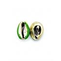 Pendente Buzio / Concha - Verde e Dourado (16x10mm)