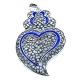 Pendente Metal Coração de Viana Blue Collection [Mod.007) - Prateado (76x55mm)
