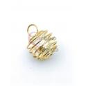 Pendente Latão AQ Aneis de Perola - Dourado (13mm)