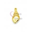 Pendente Aço Inox Buzio - Dourado (19x9mm)
