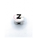Conta Silicone Quadrada Letra Z - Branca