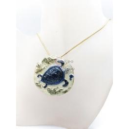 Fio Medalhão Tartaruga - Dourado