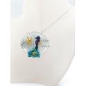 Fio Medalhão Concha Estrela do Mar Cavalo Marinho - Prateado