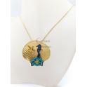 Fio Medalhão Concha Estrela do Mar Cavalo Marinho - Dourado