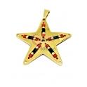 Pendente Latão Estrela com Missangas Japonesas [30230] - Dourado (28mm)
