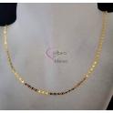 Fio Aço Inox Completo Malha Espalmada Clip - Dourado [45cm]