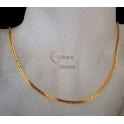 Fio Aço Inox Completo Malha Espalmada Tradicional - Dourado [45cm]