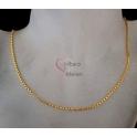 Fio Aço Inox Completo 316 L Elo Redondo Fechado (2mm) - Dourado [45cm]