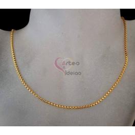 Fio Aço Inox Completo 316 L Elo Redondo Fechado (2mm) - Dourado [45 cm]