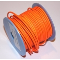 Cabedal Redondo de 2 mm Fluorc. Orange - 50 cm