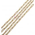 Corrente Aço Inox Elo Retangular (12x4mm) - Dourado [1metro]