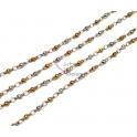 Corrente Aço Inox Elo e Bolinha (2.5) - Prateado e Dourado [1metro]