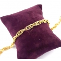Pulseira Aço Inox Malha Efeito ADN - Dourado