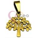 Pendente Aço Inox Árvore da Vida Recortada - Dourado (25mm)