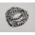 Fiada Contas de Cristal Cantos Arredondados - Prateado (6x5mm)