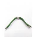 Base Pulseira Cordão Twist [Bolinha] Verde Azeitona - Prateado