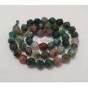 Fiada de Pedras Hexagonais Mix Verde Escuro (8mm)