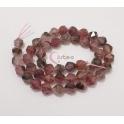 Fiada de Pedras Hexagonais Mix Rosa Velho (8mm)