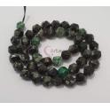 Fiada de Pedras Hexagonais Mix Preto e Verde (8mm)