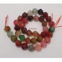 Fiada de Pedras Hexagonais Mix Multicolor Escuro (10mm)