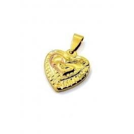 Pendente Aço Inox Coração Multi-Layers - Dourado (20mm)