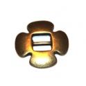 Conta Metal Flor - Bronze (6 mm)