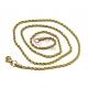 Fio Aço Inox Completo Cordão Twist (3mm) - Dourado [45cm]