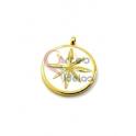 Pendente Aço Inox Branco Estrela - Dourado (18mm)