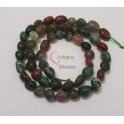 Fiada de Pedras Irregulares Mix Verdes (8mm)