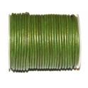 Cabedal Redondo de 2 mm Metalic Green - 50 cm