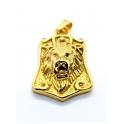 Pendente Aço Inox Leão - Dourado (45x30mm)