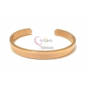 Pulseira Aço Inox Cuff Lisa - Dourada