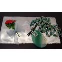 Fio Artesanal Pedra e Cristais Tons Verde com Envelope Oferta