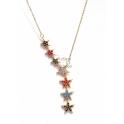 Fio Aço Inox Crystals Deluxe Estrelas Caidas - Dourado