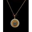 Fio Aço Inox Madrepérola Sun Crystals - Dourado