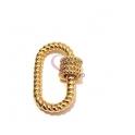 Fecho Rosca AQ Oval Twist - Dourado (28x18mm)