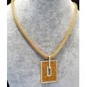 Fio Aço Inox Retangulo Shinny Dourado - Dourado