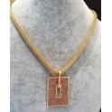 Fio Aço Inox Retangulo Shinny Dourado Rosa - Dourado