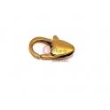 Fecho Aço Inox Mosquetão Coração - Dourado (20x12mm)