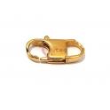Fecho Aço Inox Mosquetão Retangular - Dourado (22x11mm)